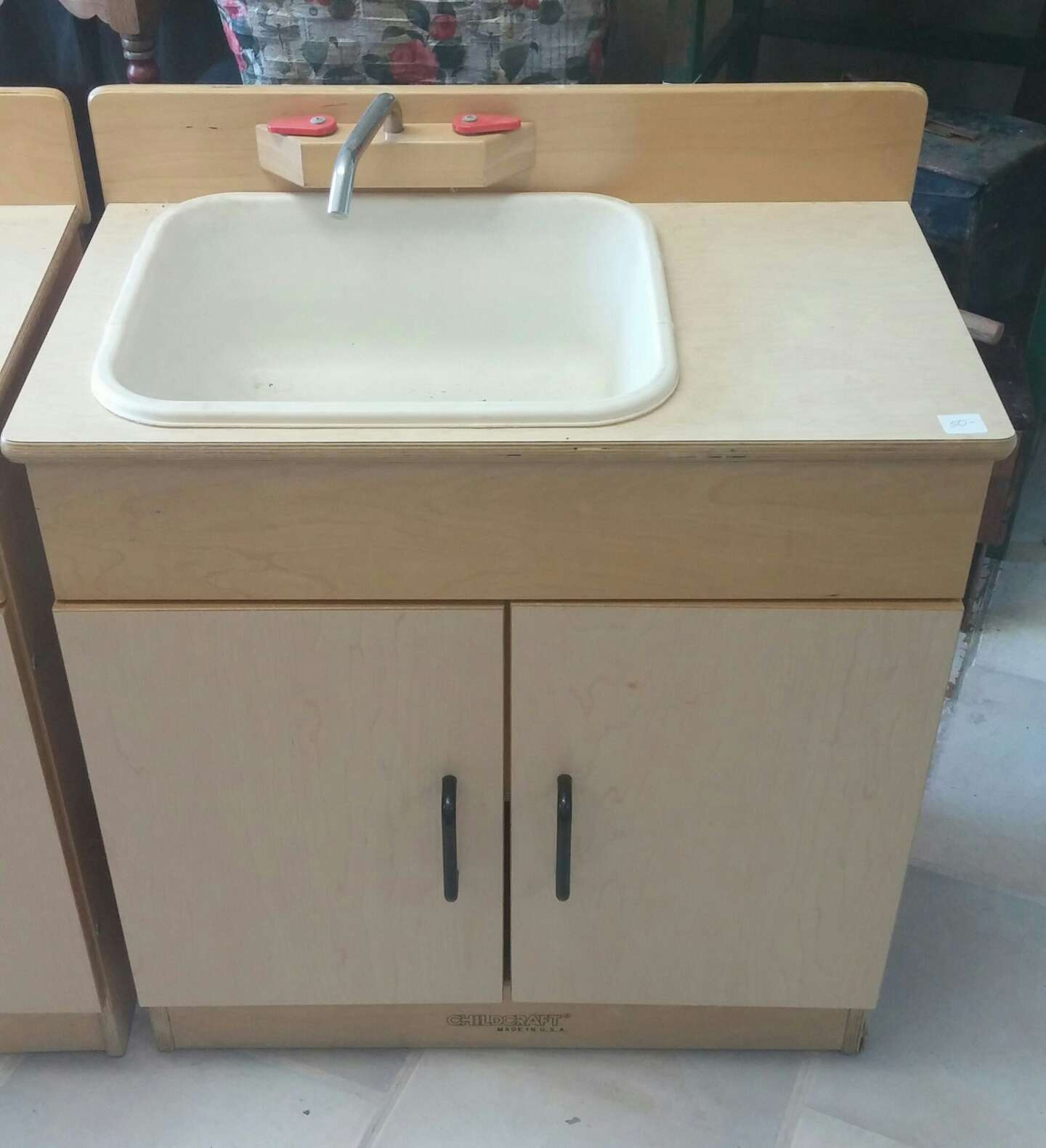 Childcraft play kitchen sink and stove for sale in live for Child craft play kitchen