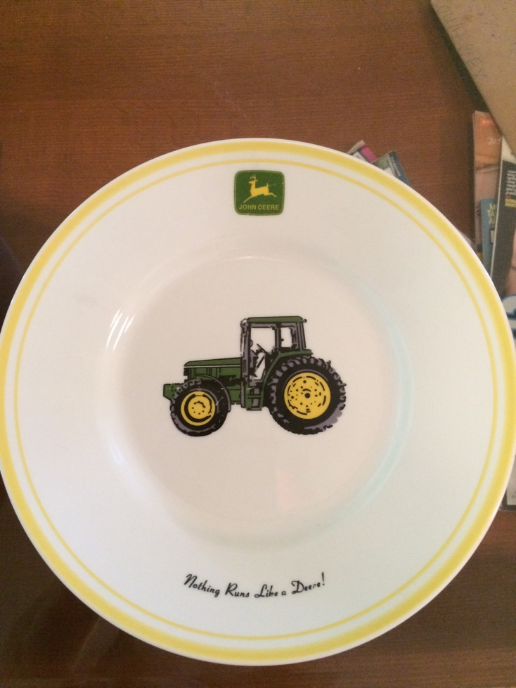 John Deere Bowl : Offical john deere plates and salad bowl for sale in