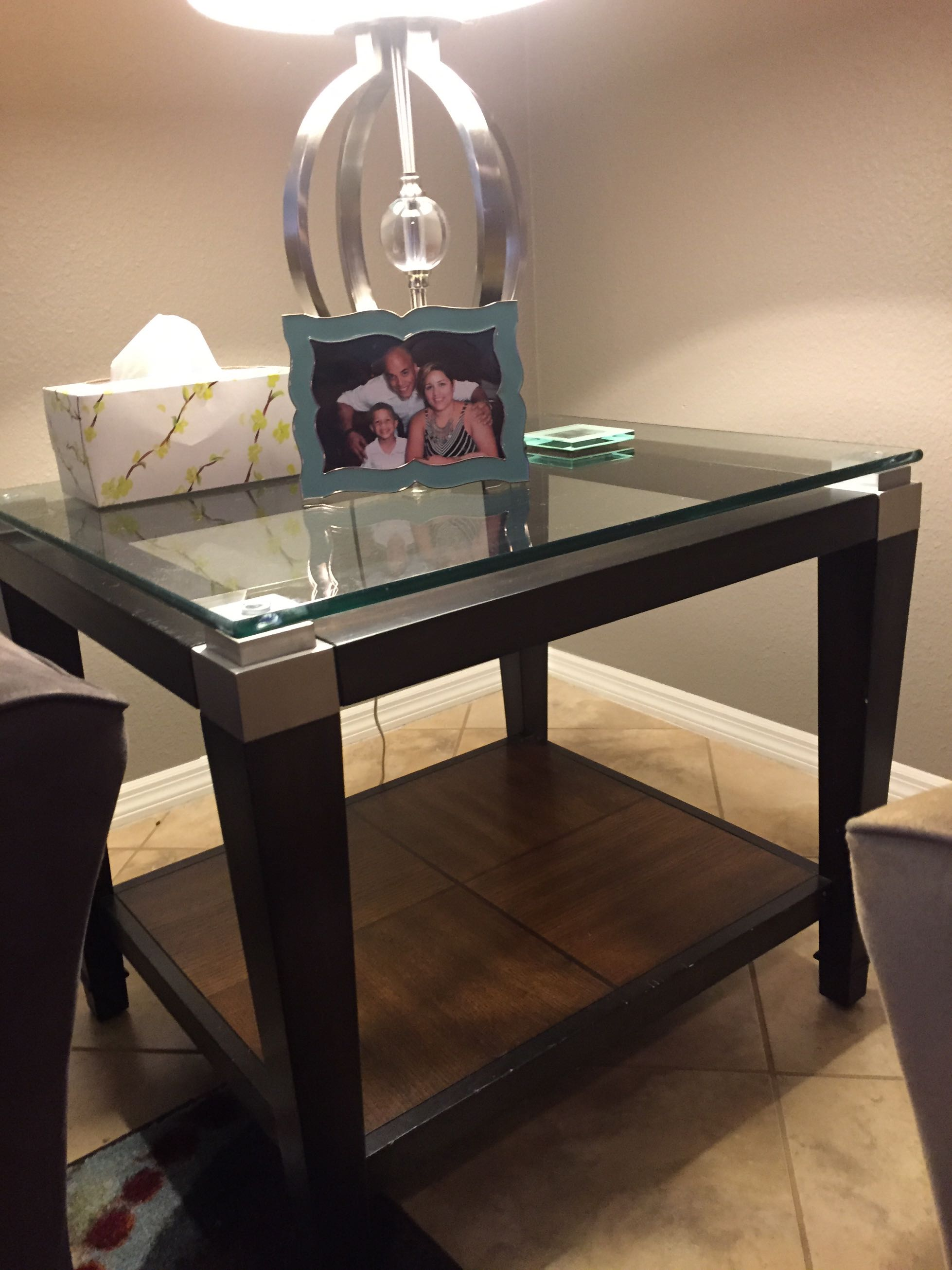 3 piece living room table set coffee table and 2 side tables