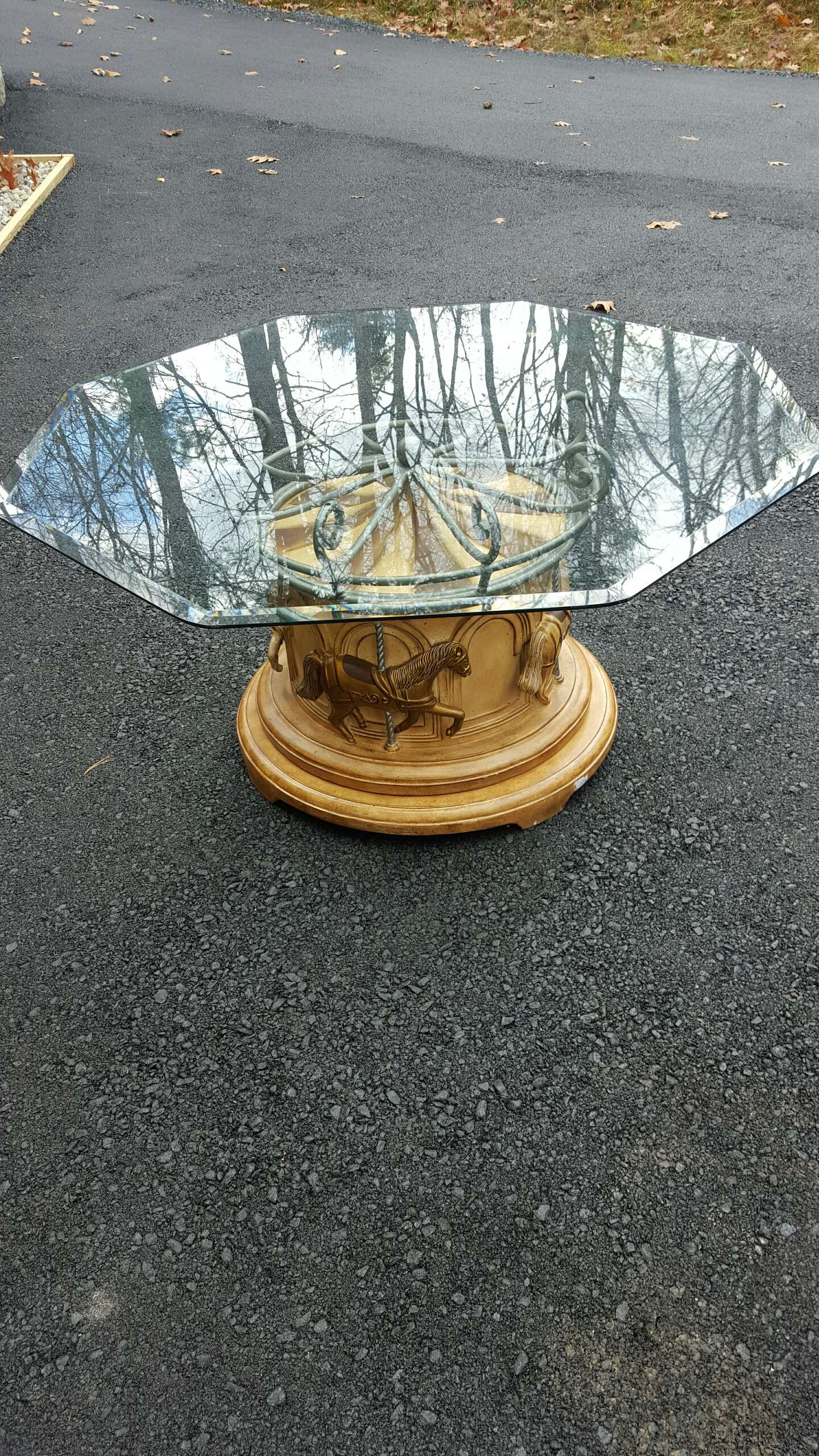 carousel coffee table w revolving horses for sale in milford, pa