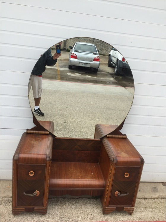 Antique Wood Vanity With Mirror Antique Furniture