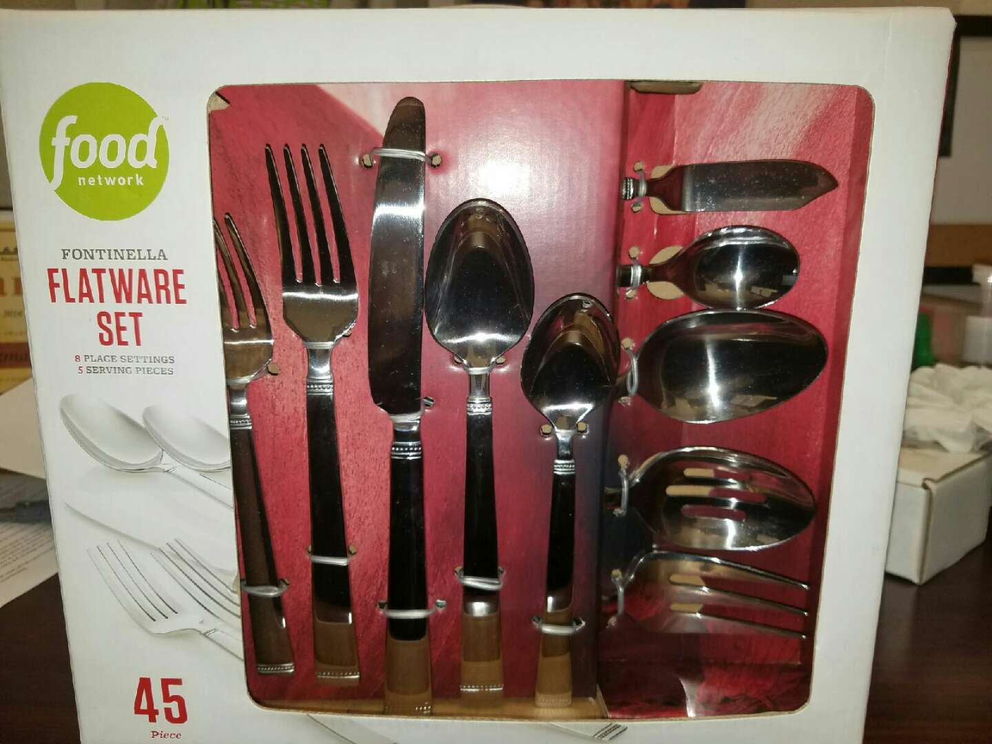 Brand New 45 Piece Food Network Flatware Set For Sale In