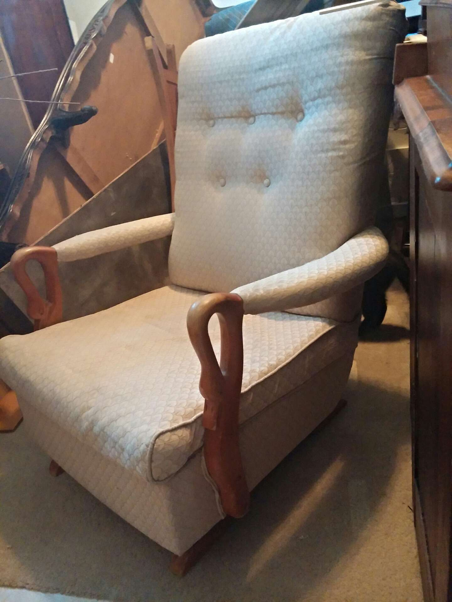 Vintage Swan Arm Rocking Chair for sale in Plano TX 5miles Buy – Swan Arm Rocking Chair