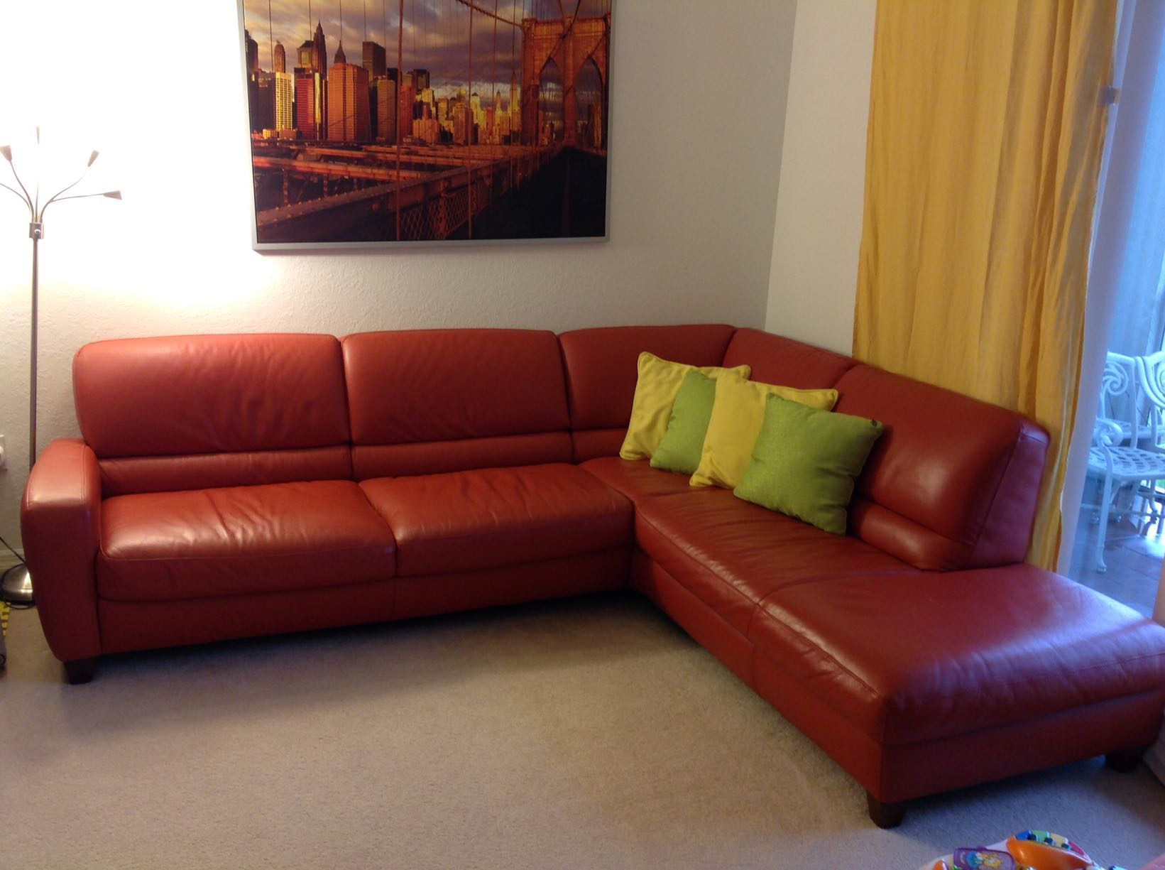 Italsofa Leather Sectional Sofa Refil