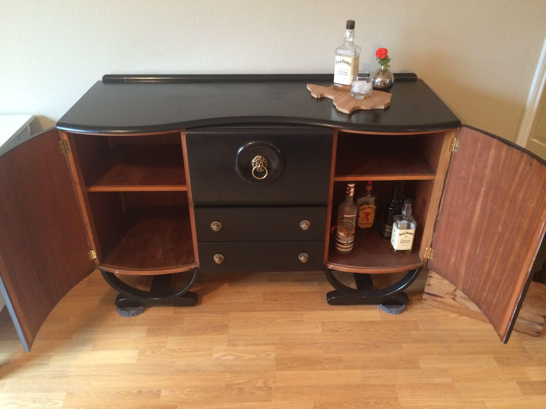 1930s refinished art deco mini bar cabinet antique for sale in little elm tx 5miles buy. Black Bedroom Furniture Sets. Home Design Ideas