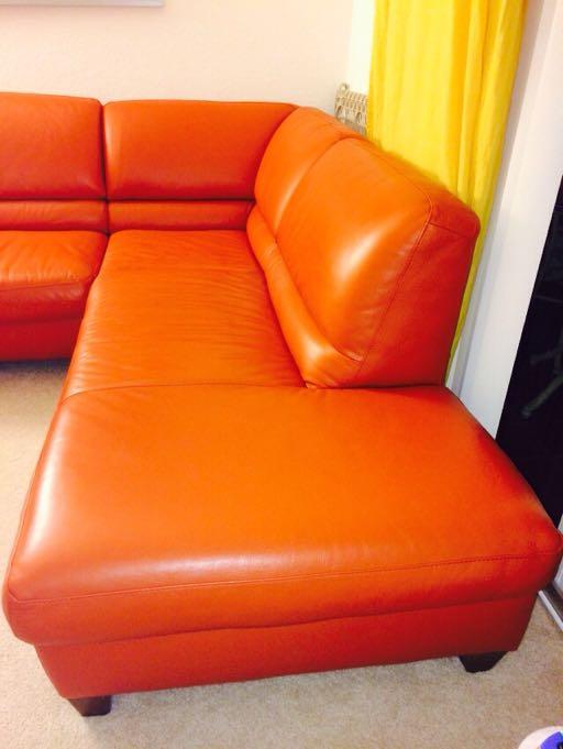 Italsofa Leather Sectional Sofa Quot Terracota Quot Beautiful