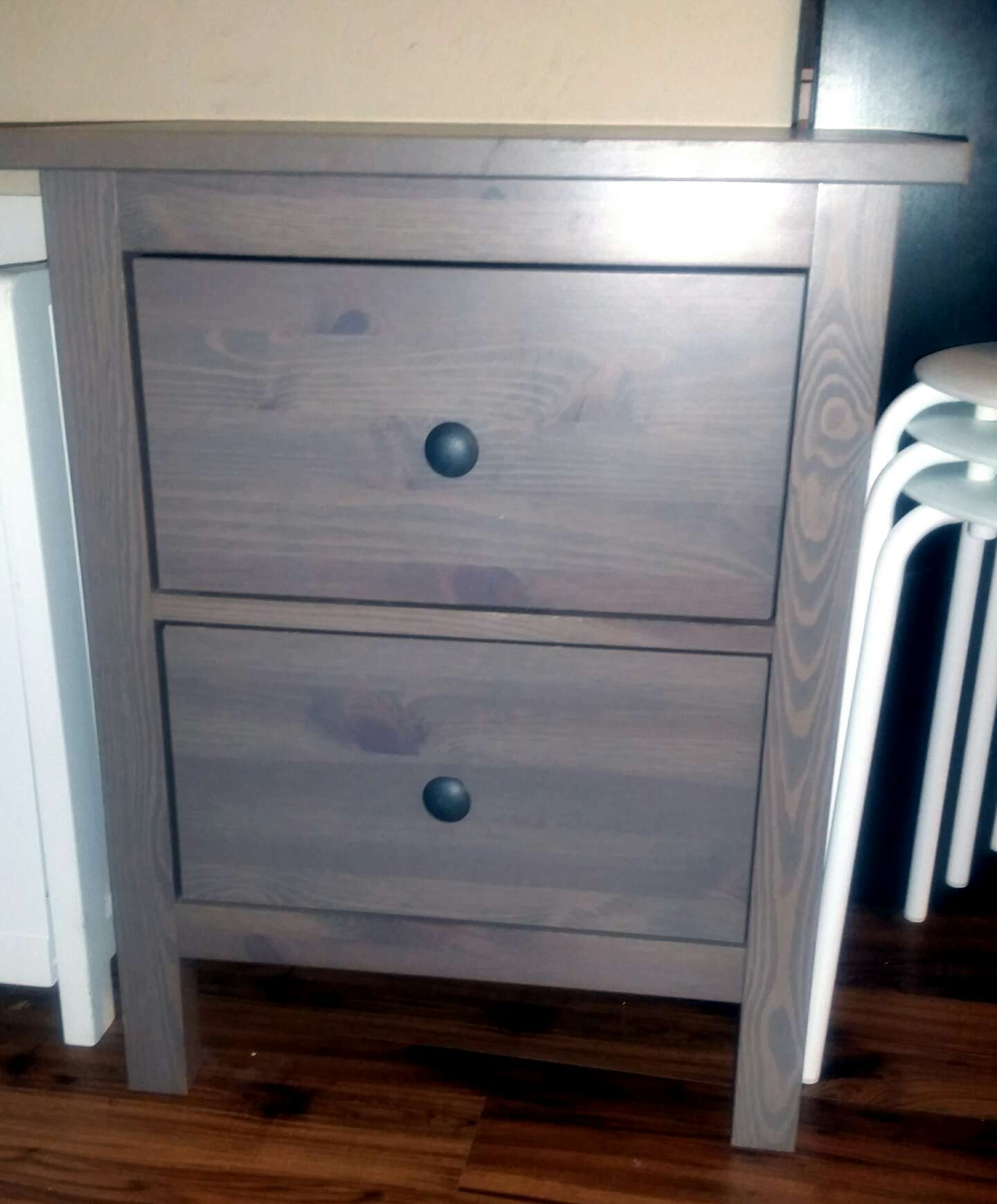 IKEA HEMNES 2 Drawer Nightstand Gray Brown (Discontinued Limited Time)The drawe for sale in