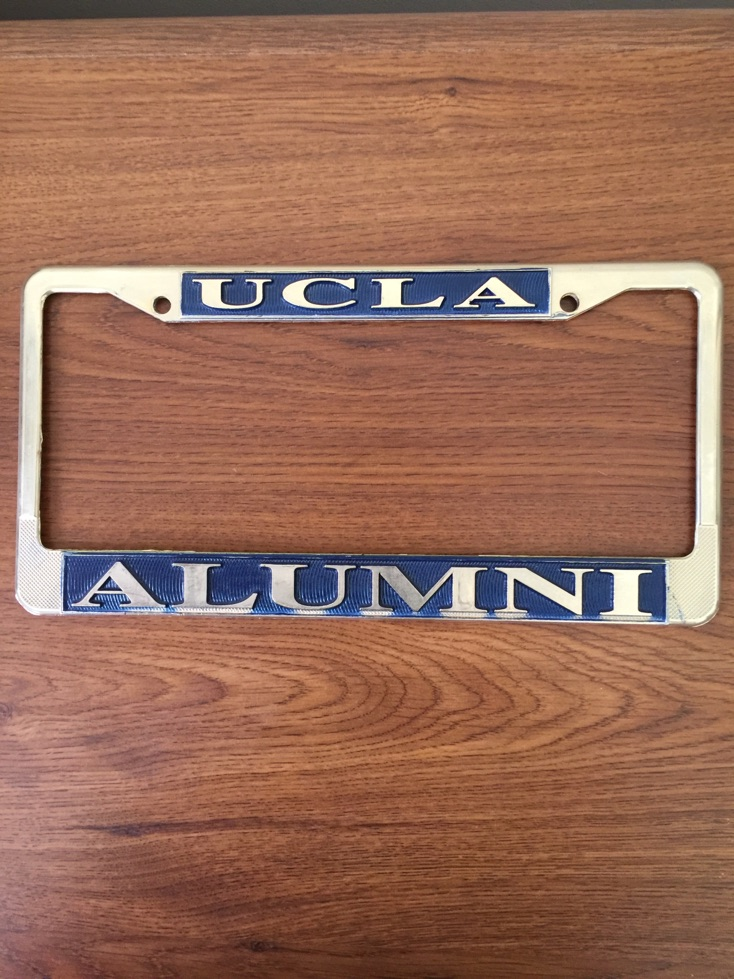 ucla alumni license plate frame