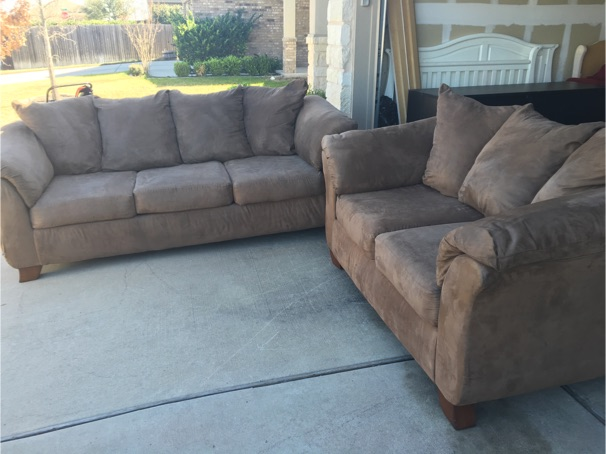 ashley furniture microfiber couch and love seat