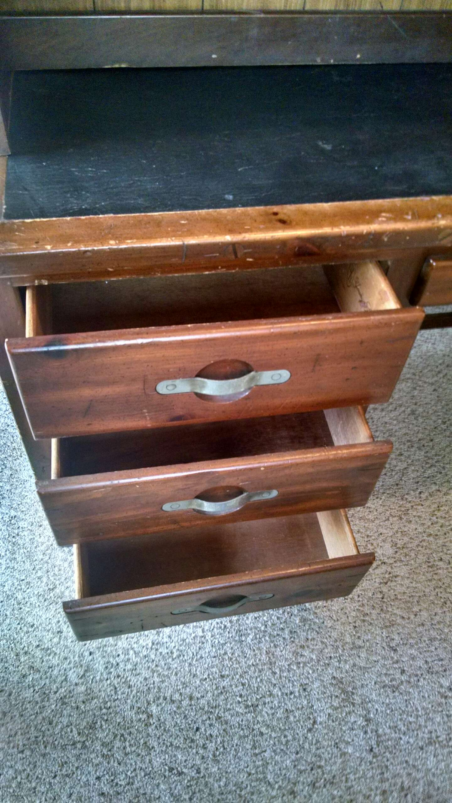 . Reduced   Dated 1973 Young Hinkle ships ahoy desk with hutch solid wood in  Locust Grove   100