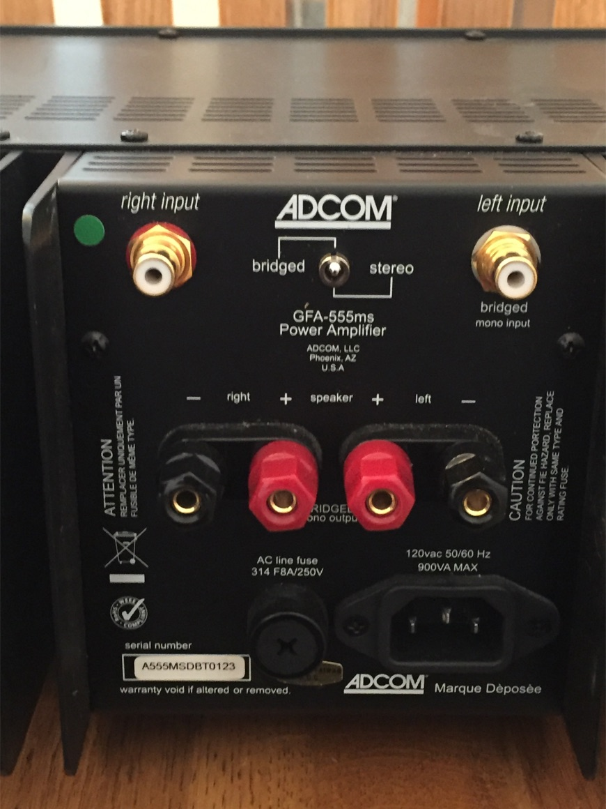 Adcom Gfa 555ms Amplifier Retails At 1299 For Sale In