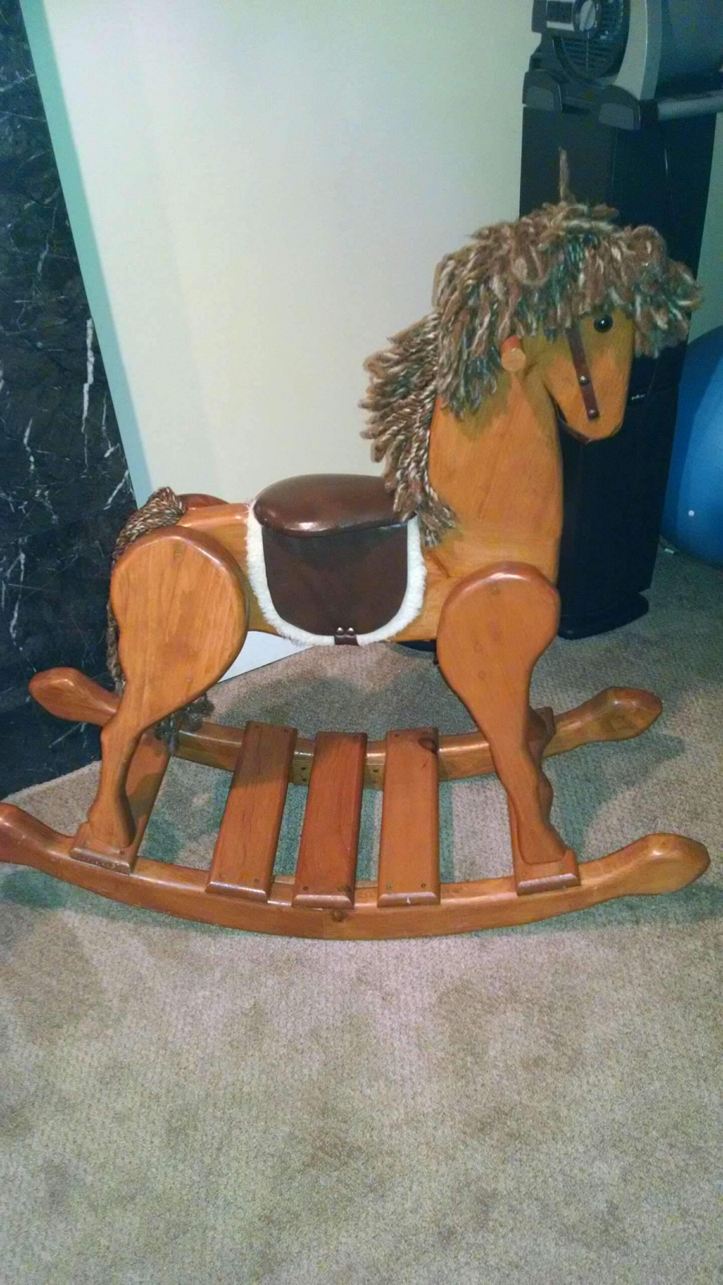 wooden rocking horse for sale in woburn ma 5miles buy and sell. Black Bedroom Furniture Sets. Home Design Ideas