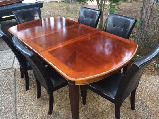 Dining table with 6 chairs like new for sale in houston for Outdoor furniture 77386