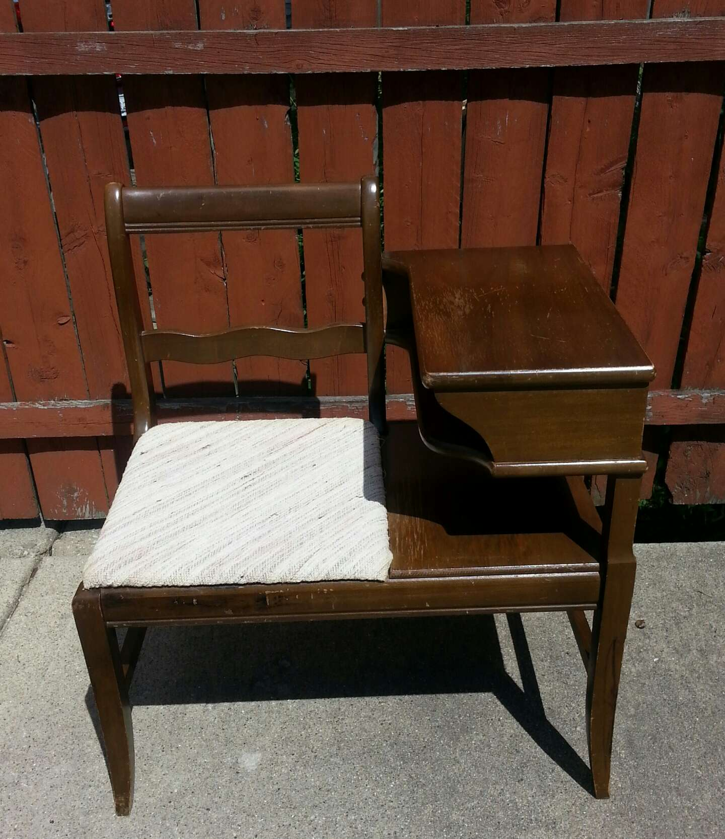 Vintage Mid Century Modern Telephone Bench For Sale In Chicago Il 5miles Buy And Sell