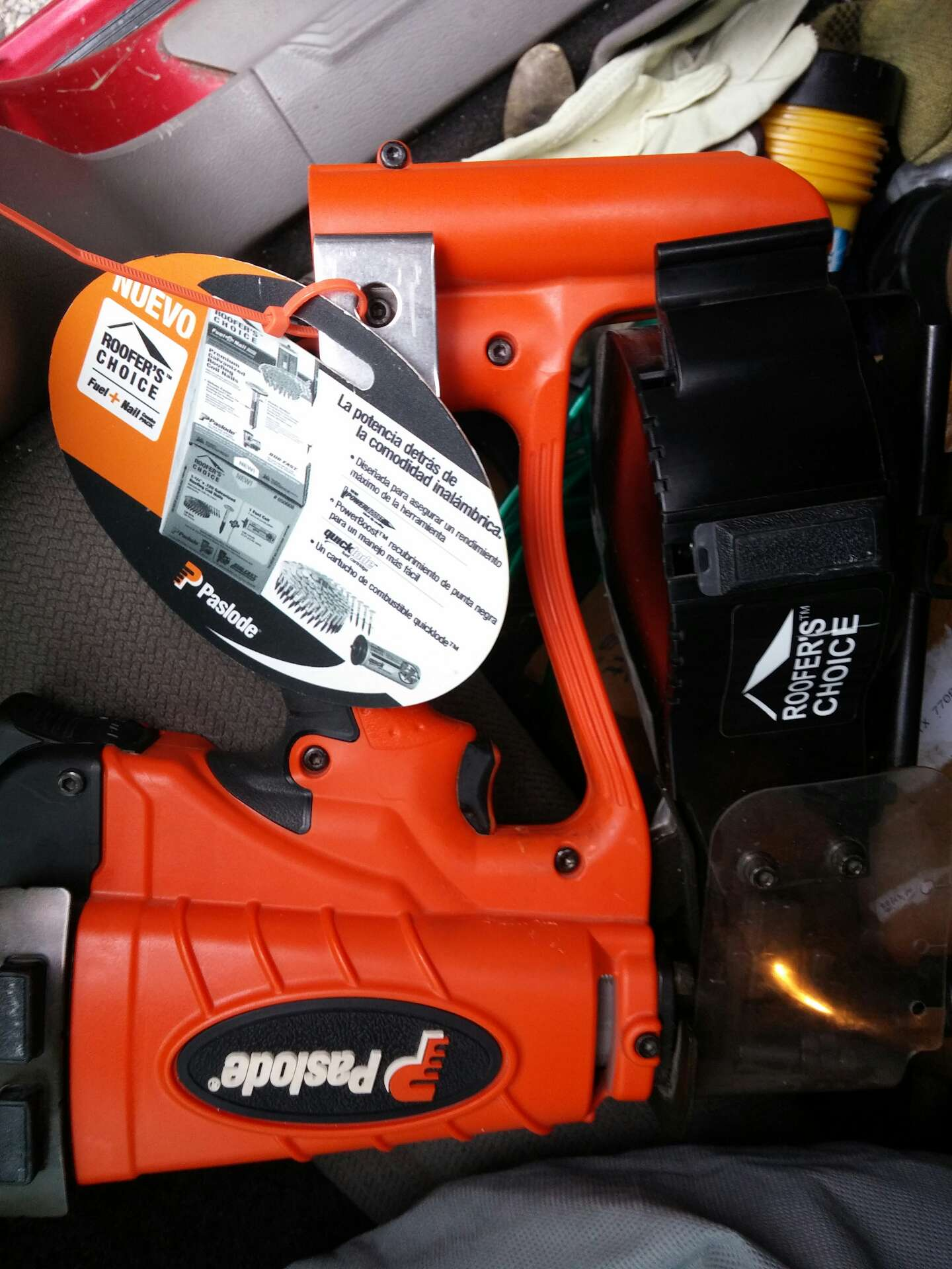 Brand NEW Upgraded Paslode Cordless Roofing Nailer Accepts Trim Fuel