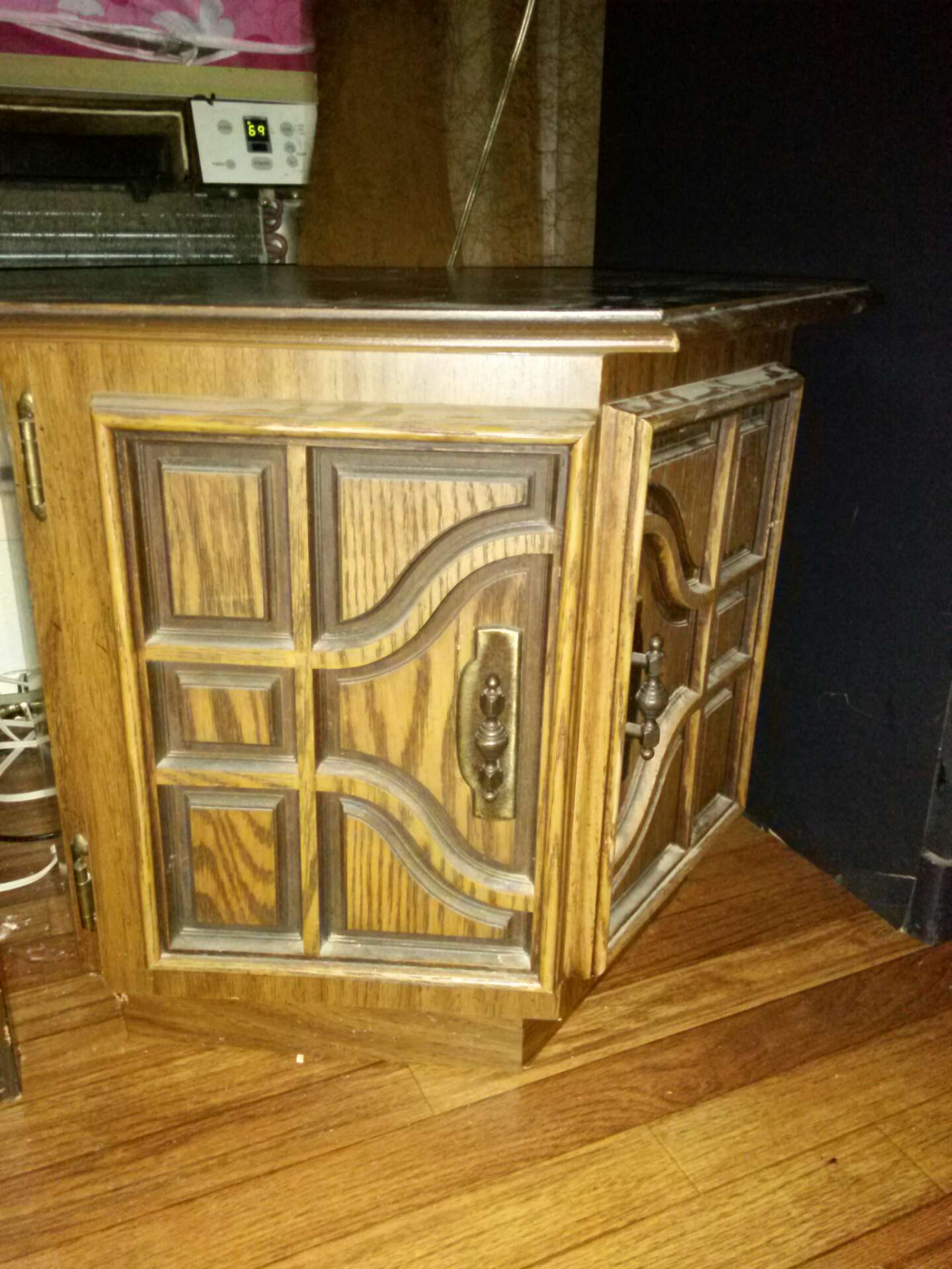 Antique all wood end table for sale in dallas tx 5miles buy and sell Home mart furniture addison tx