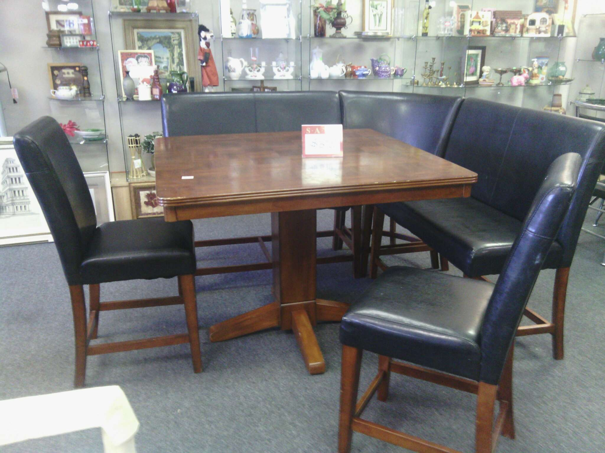 Wrap Around Bench Kitchen Table Counter Height Dining Set W Wraparound Bench For Sale In Houston