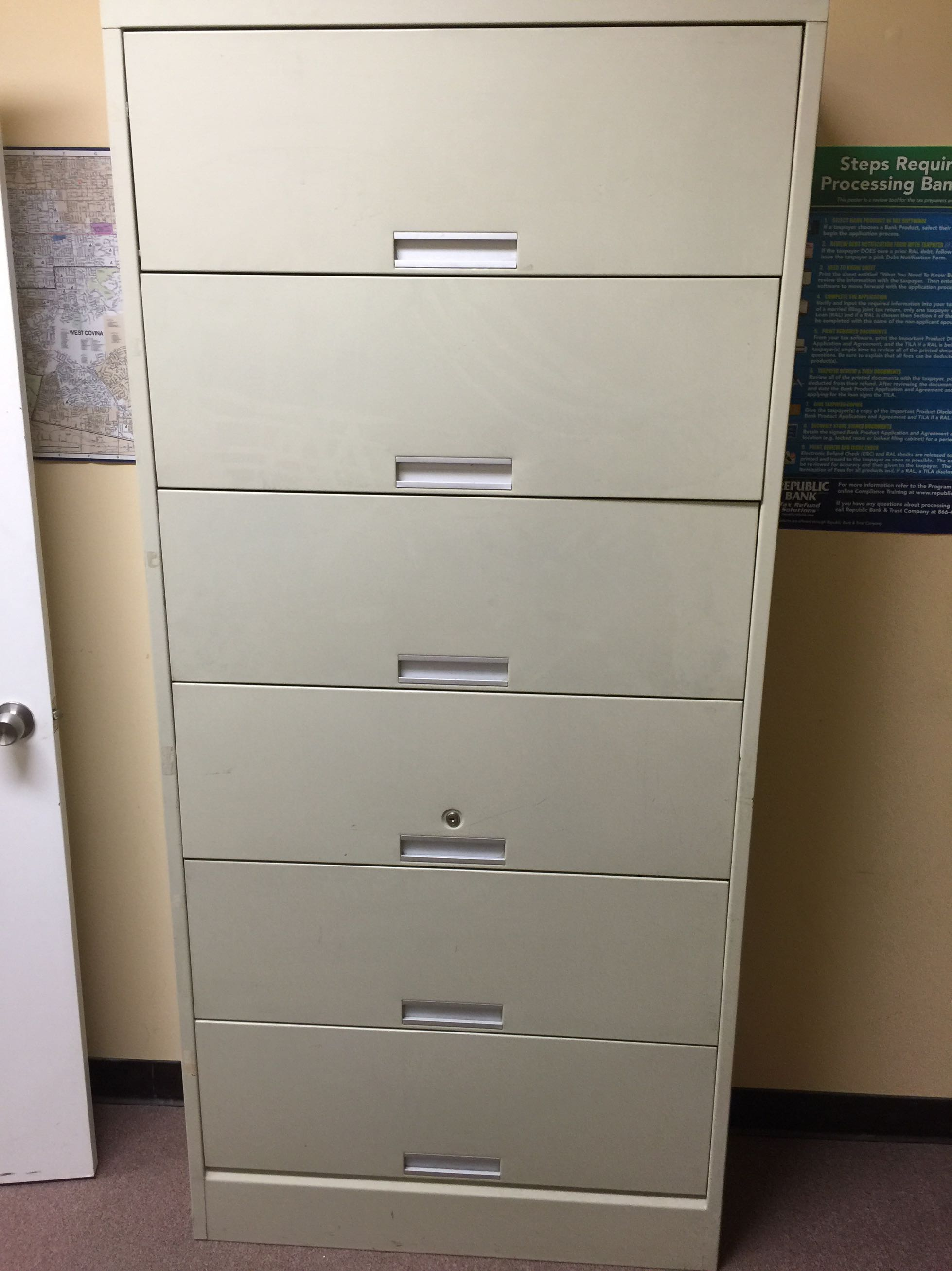 Holga By Hon 6 Drawer Lateral File Cabinet For Sale In La