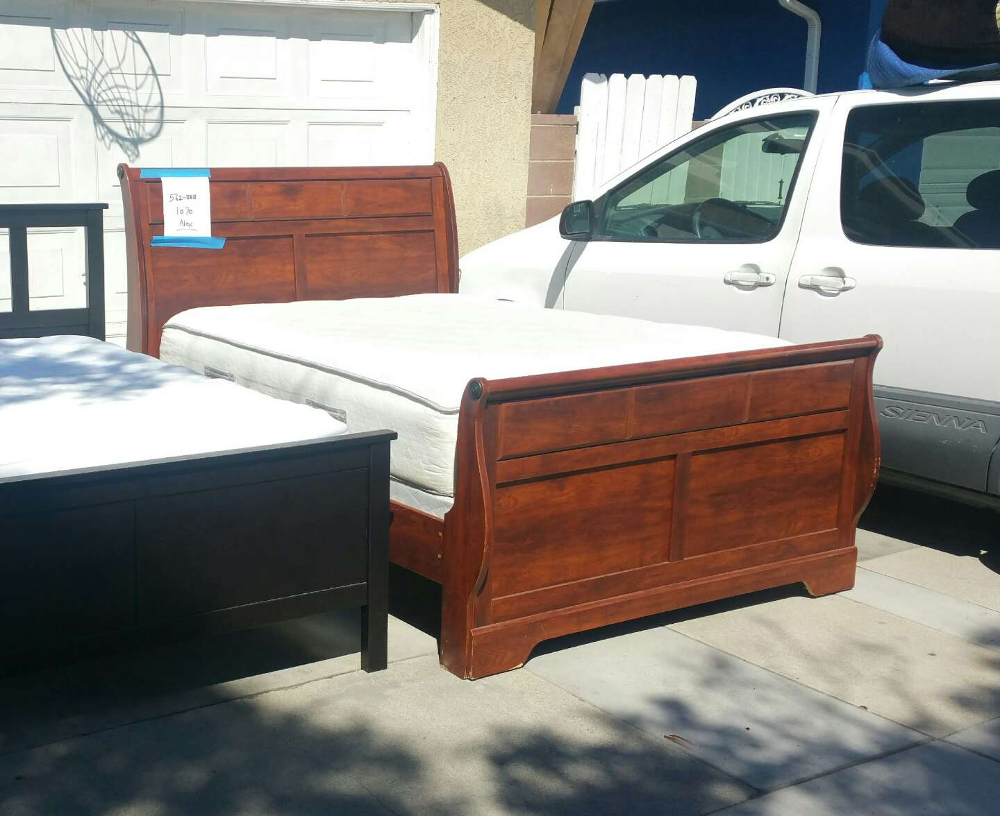 Queen And Full Bed Frame With Mattress Box Spring For Sale In Cerritos Ca 5miles Buy And Sell