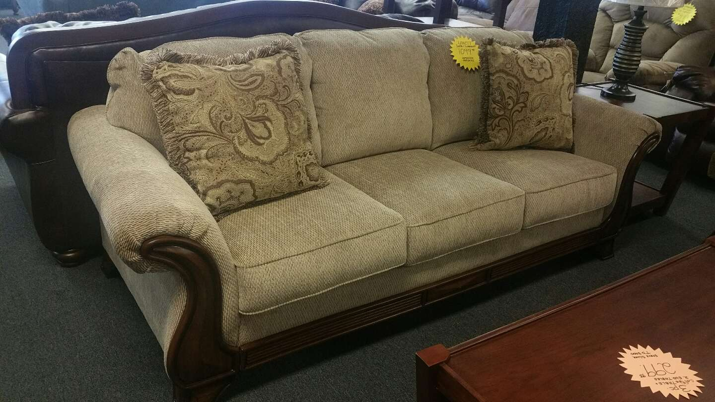 Signature ashley lanett sofa and loveseat for sale in for Furniture 90 days same as cash