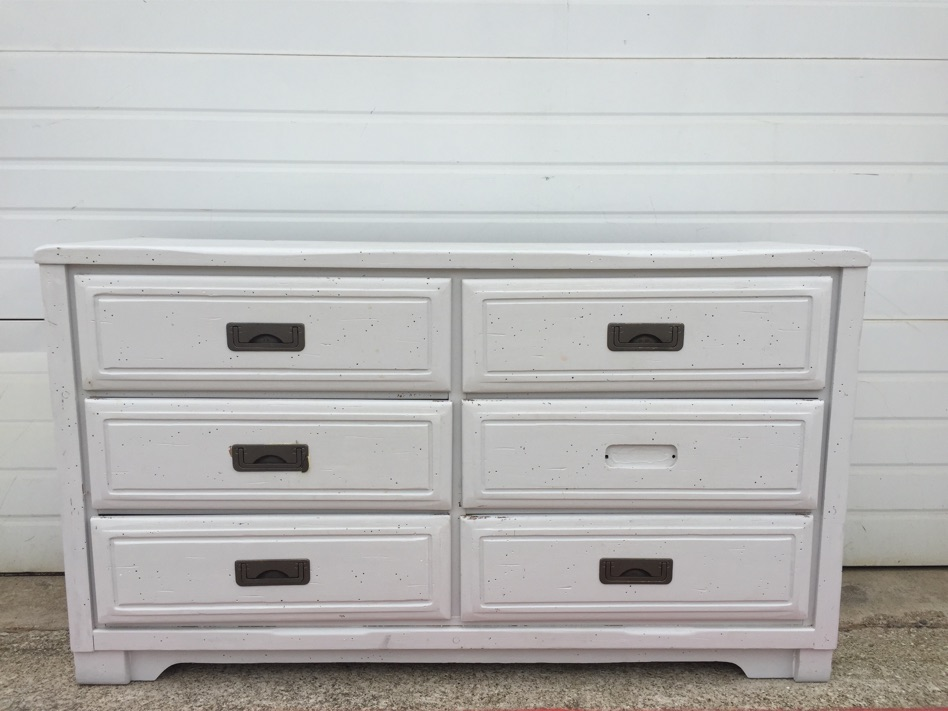 Wood Six Drawer Dresser White By Young