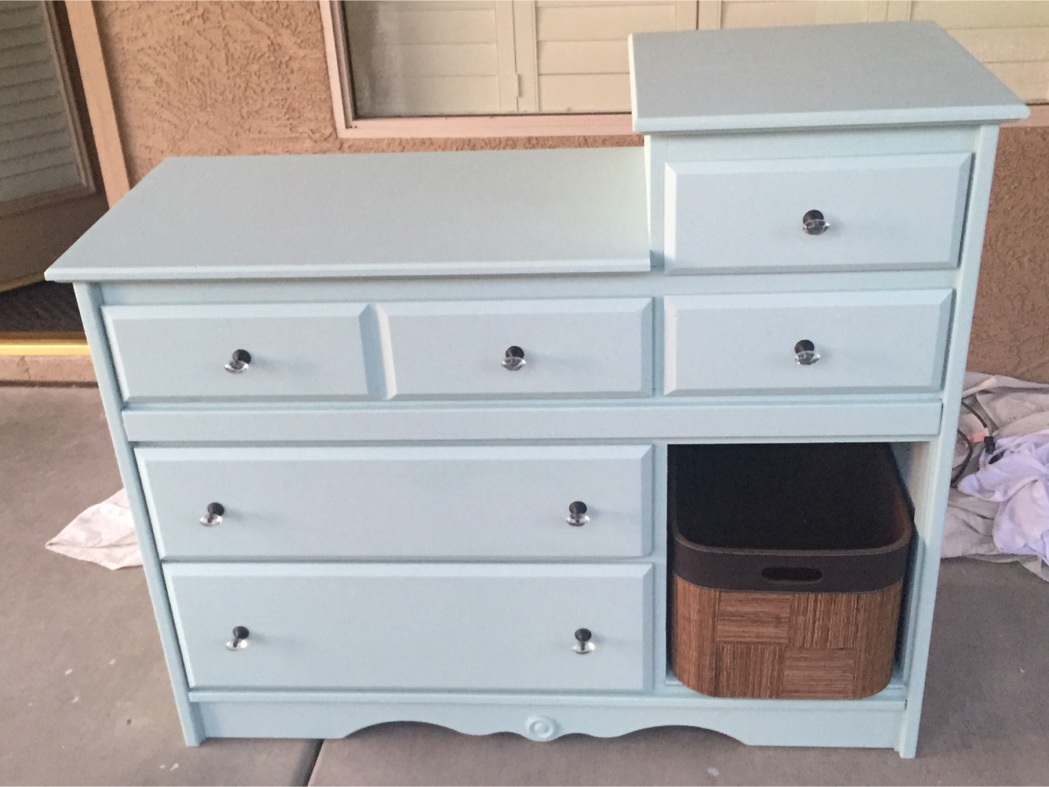 Tiffany blue dresser or baby dresser for sale in phoenix for Furniture 85050