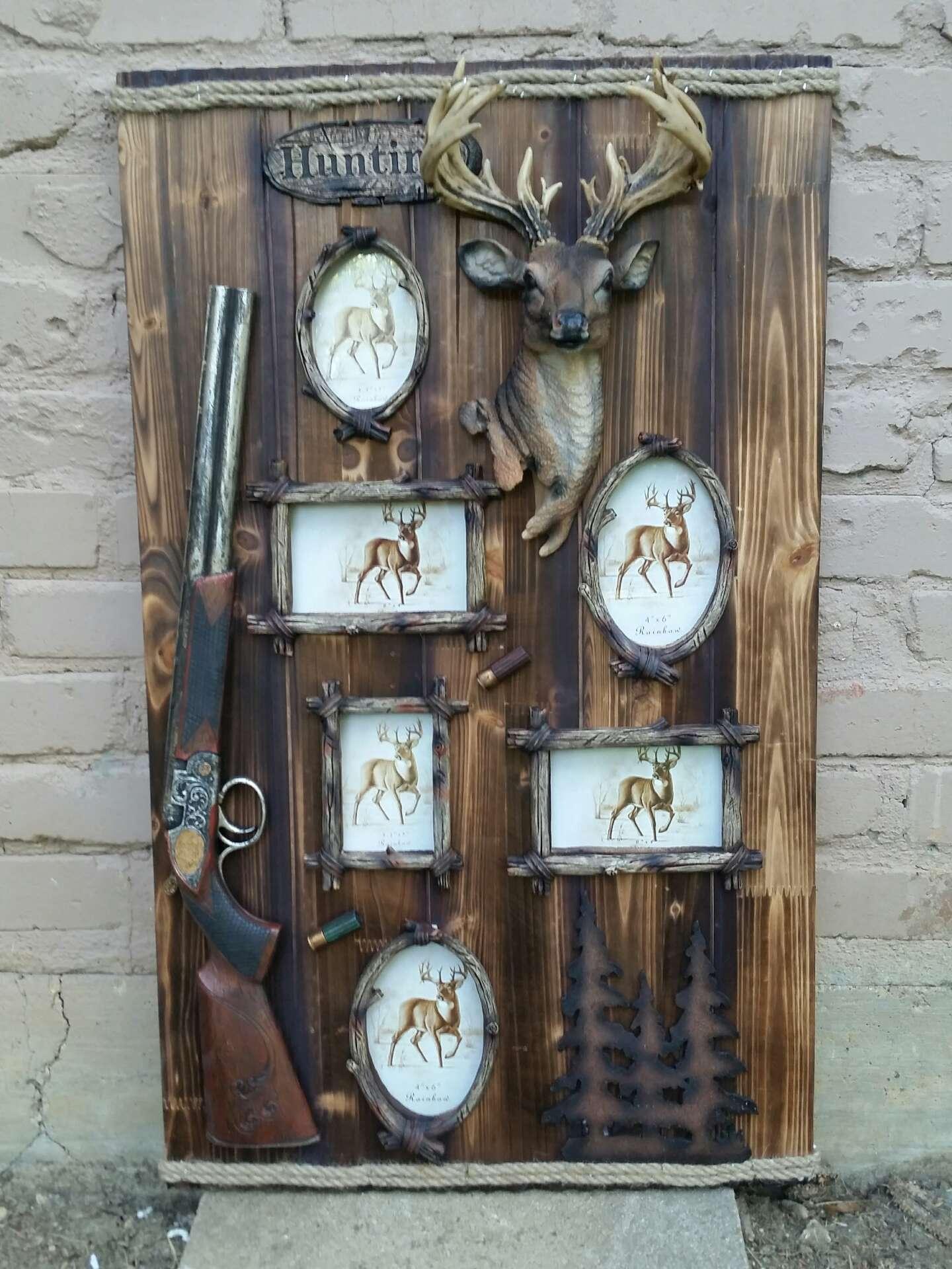 Large Rustic Western Wooden Hunting Deer Head Custom