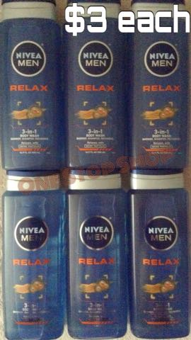 NIVEA Men Relax 3 In 1 Body Wash Shower.Shampoo.Recharge (16.8 fl oz) in LA |$3